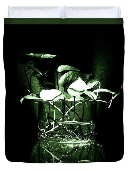 Green Duvet Cover by Rajiv Chopra