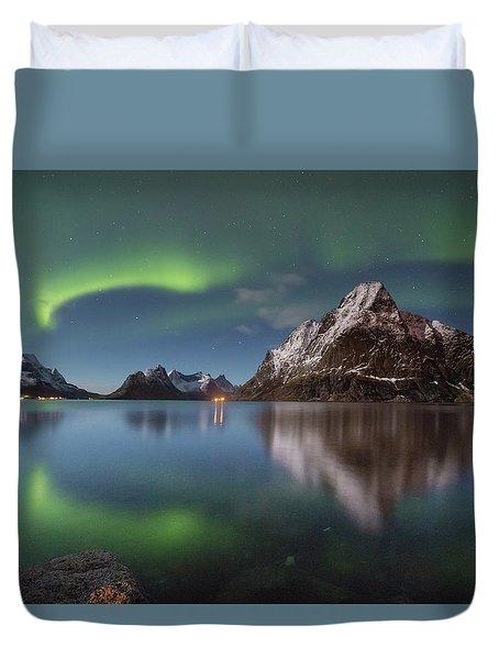 Green Reflection Duvet Cover