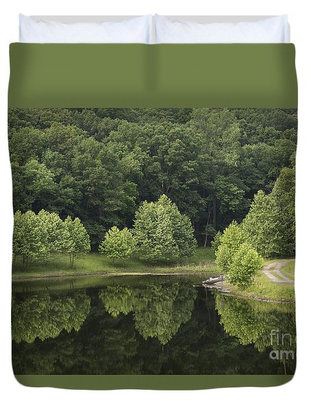 Green Reflections Duvet Cover