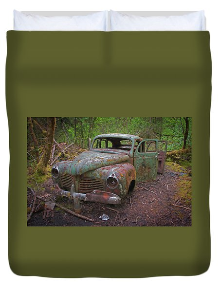 Green Relic Duvet Cover