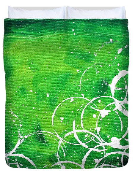 Green Riches By Madart Duvet Cover by Megan Duncanson