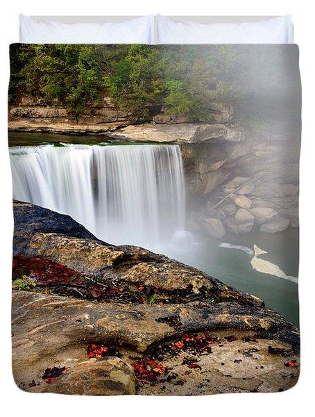 Green River Falls Duvet Cover