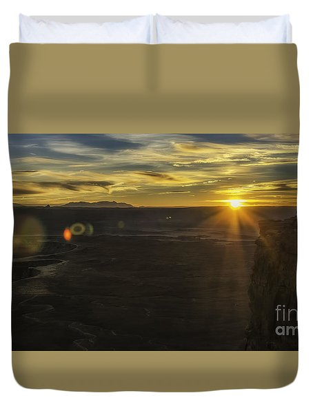 Green River Flair  Duvet Cover