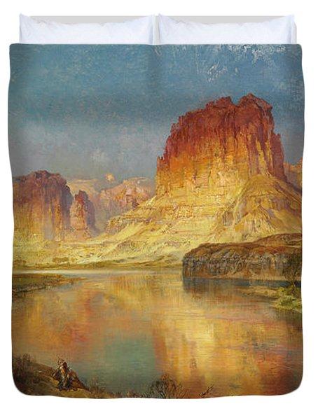 Green River Of Wyoming Duvet Cover by Thomas Moran