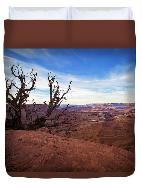 Green River Overlook Duvet Cover