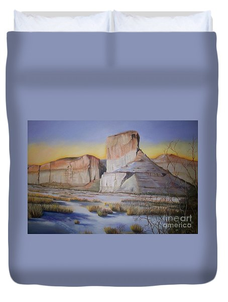 Green River Wyoming Duvet Cover by Marlene Book
