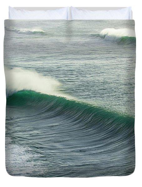 Green Rollers Duvet Cover