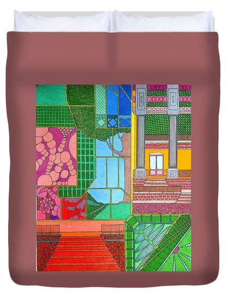 Green Roof Duvet Cover