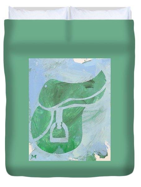 Green Saddle Duvet Cover