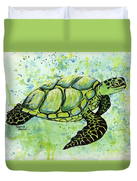 Green Sea Turtle 2 Duvet Cover by Darice Machel McGuire