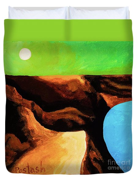 Green Skies Duvet Cover