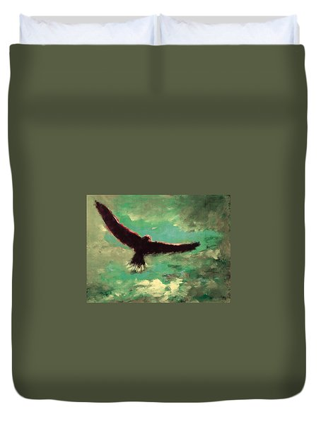 Green Sky Duvet Cover