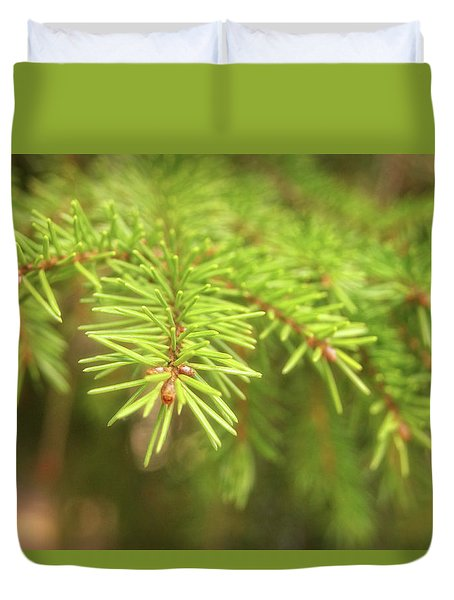 Green Spruce Branch Duvet Cover