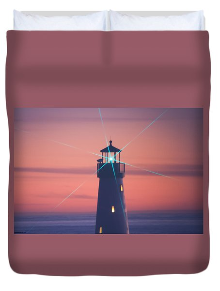 Duvet Cover featuring the photograph Green Star by Lora Lee Chapman