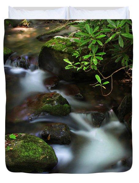 Green Stream Duvet Cover