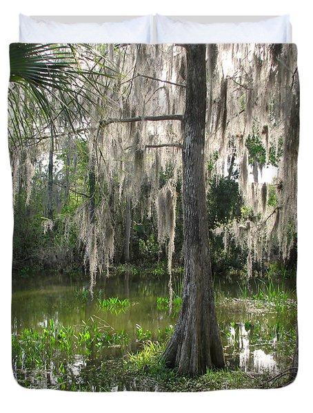 Green Swamp Duvet Cover