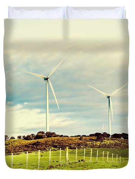 Green Tasmania Duvet Cover