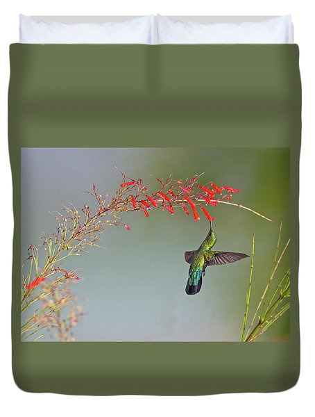 Green-throated Carib Duvet Cover