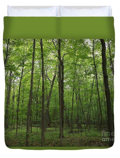 Green Trees Duvet Cover