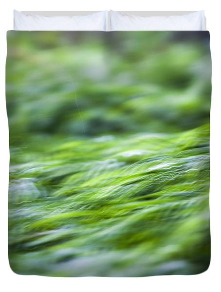 Green Waterfall 1 Duvet Cover