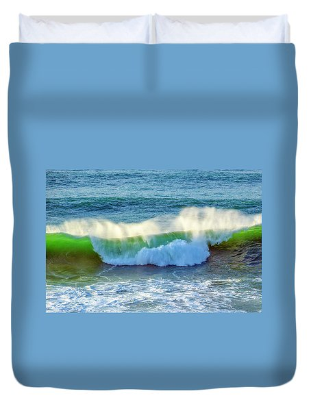 Green Wave Duvet Cover by Dennis Bucklin
