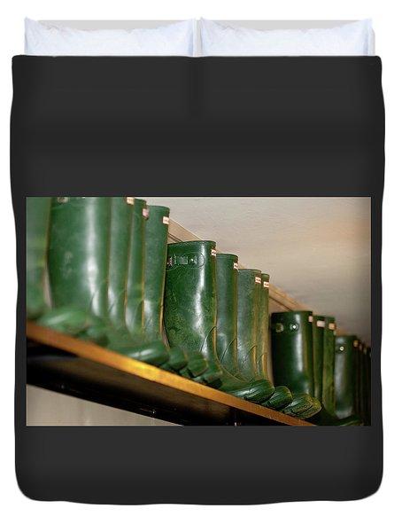 Green Wellies Duvet Cover