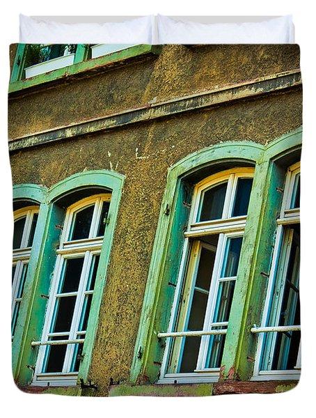 Green Windows Duvet Cover