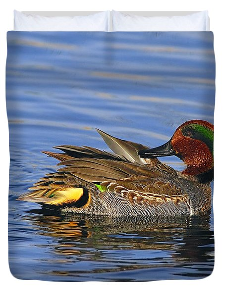 Green-winged Teal Duvet Cover