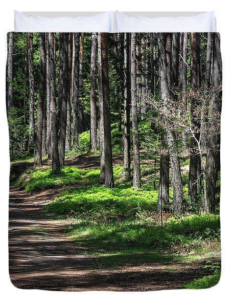 Green Wood Duvet Cover