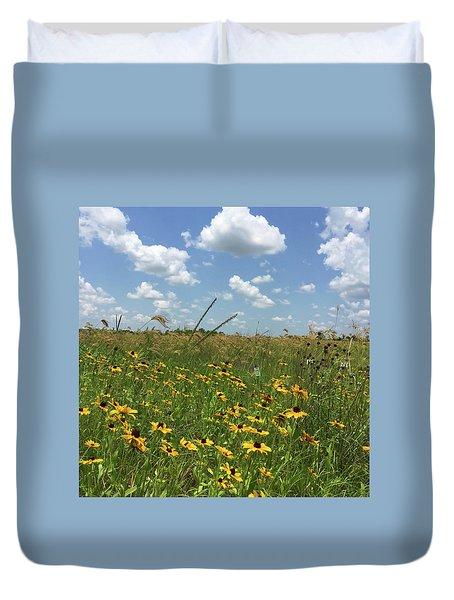 Greener Pastures In Heaven Duvet Cover