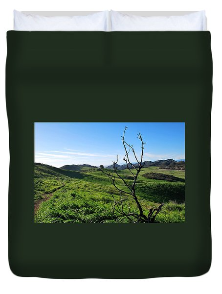 Duvet Cover featuring the photograph Greenery In The Hills Landscape by Matt Harang