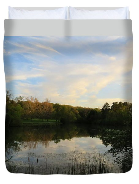 Greenfield Pond Duvet Cover