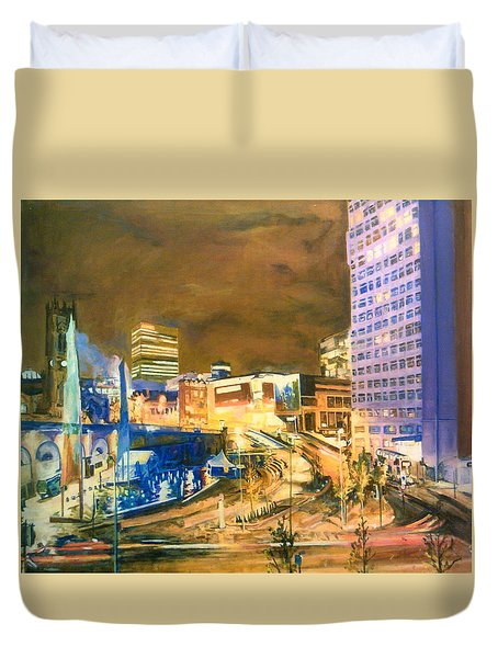 Greengate, Salford, Manchester At Night Duvet Cover
