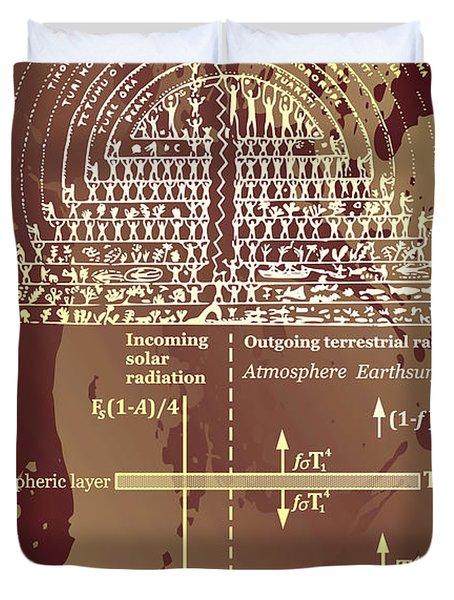 Greenhouse Effect Mythology Duvet Cover