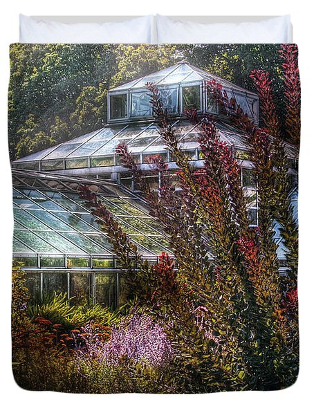 Greenhouse - The Greenhouse Duvet Cover by Mike Savad