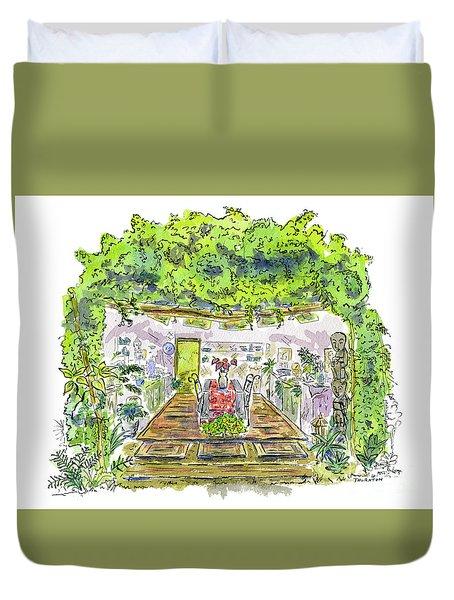 Greenhouse To Volcano Garden Arts Duvet Cover