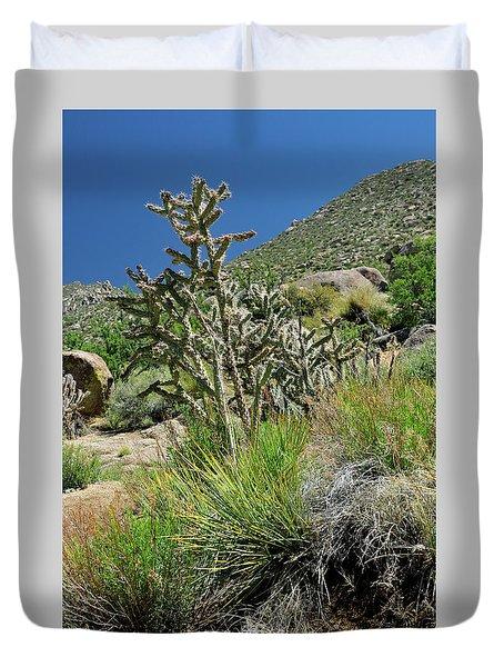 Greening Of The High Desert Duvet Cover