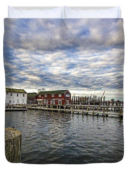 Greenport Dock Duvet Cover