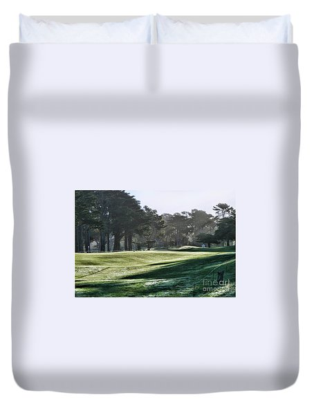 Greens Golf Harding Park San Francisco  Duvet Cover