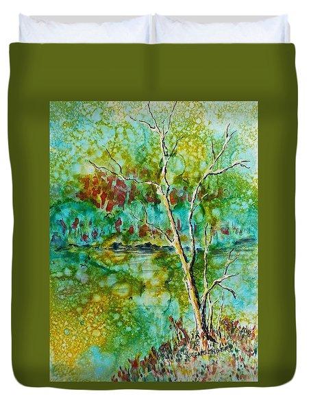 Greens Of Late Summer Duvet Cover by Carolyn Rosenberger
