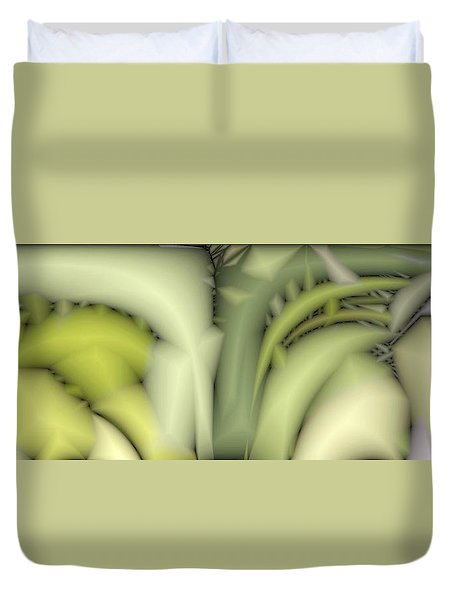 Greens Duvet Cover by Ron Bissett