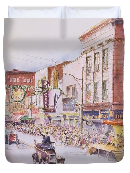 Greensboro Christmas Parade 1960 Painting by Maggie Clark