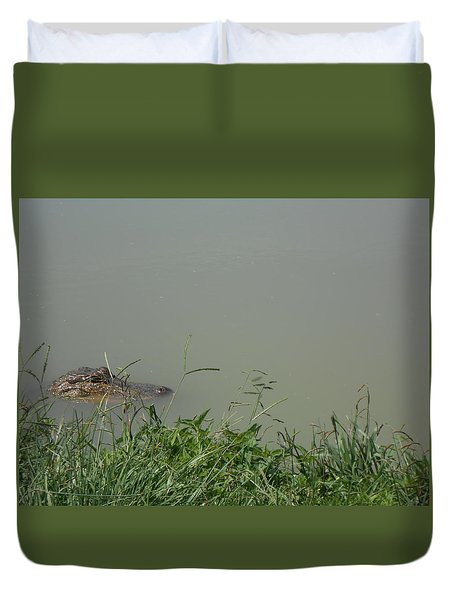 Greenwood Gator Farm Duvet Cover by Cynthia Powell