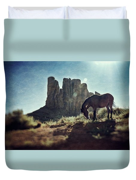 Greetings From The Wild West Duvet Cover