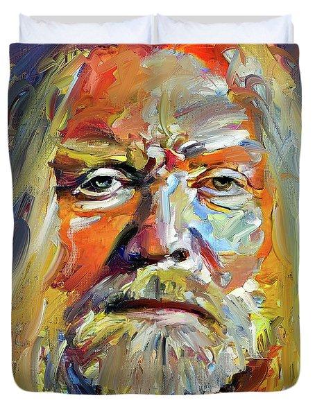 Greg  Allman Tribute Portrait Duvet Cover