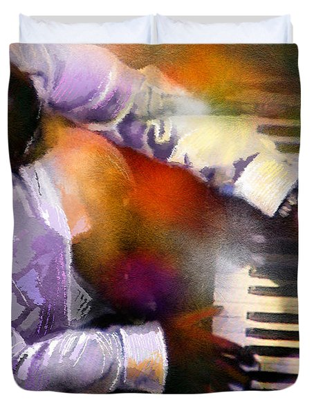 Greg Phillinganes From Toto Duvet Cover by Miki De Goodaboom