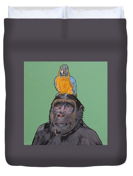 Gregory The Gorilla Duvet Cover