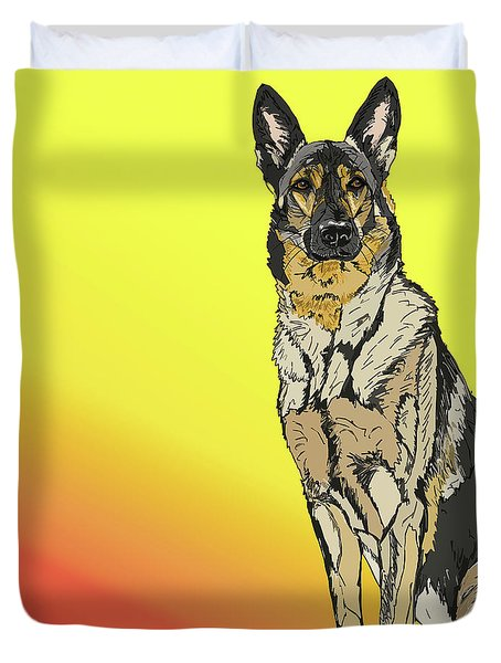Gretchen In Digital Duvet Cover