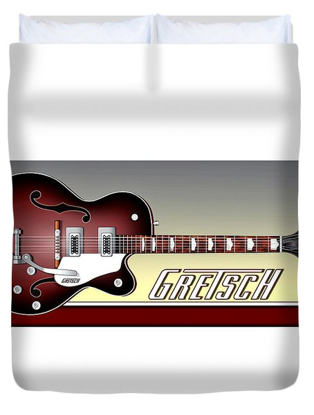 Gretsch Guitar Duvet Cover by Anthony Citro