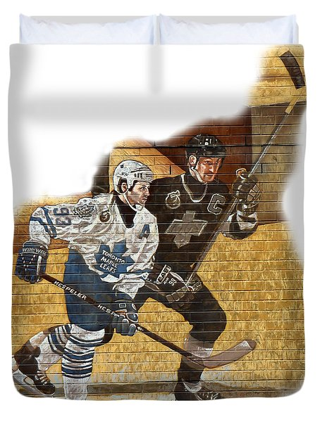 Gretzky And Gilmour Duvet Cover by Andrew Fare